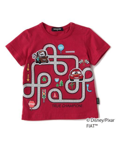 kladskap / クレードスコープ Tシャツ   【DISNEY/PIXAR】 カーズデザイン 道路プリントTシャツ(アカ)