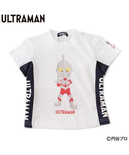 kladskap/クレードスコープ 【ウルトラマンシリーズ】 切り替え光るワッペンTシャツ オフホワイト 90