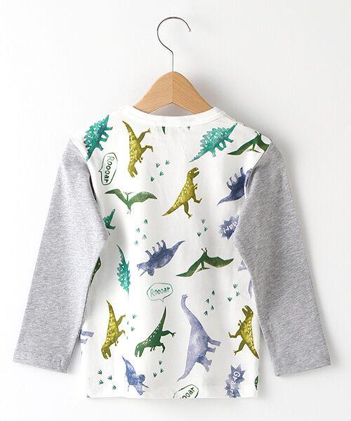 kladskap / クレードスコープ Tシャツ | ステンシル風恐竜柄切り替えTシャツ | 詳細1