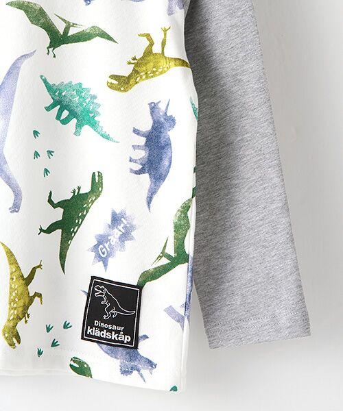 kladskap / クレードスコープ Tシャツ | ステンシル風恐竜柄切り替えTシャツ | 詳細3