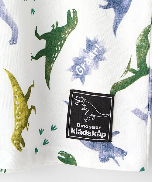 kladskap / クレードスコープ Tシャツ | ステンシル風恐竜柄切り替えTシャツ | 詳細4