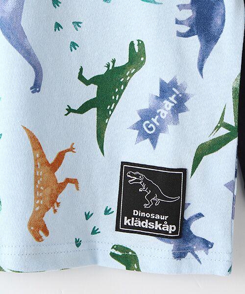 kladskap / クレードスコープ Tシャツ | ステンシル風恐竜柄切り替えTシャツ | 詳細5