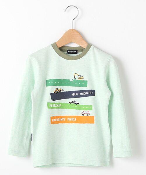 kladskap / クレードスコープ Tシャツ   抗菌防臭 働く車Tシャツ(L・グリ-ン)