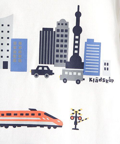 kladskap / クレードスコープ Tシャツ   抗菌防臭 街と電車プリントバック切り替えTシャツ   詳細1