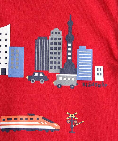 kladskap / クレードスコープ Tシャツ   抗菌防臭 街と電車プリントバック切り替えTシャツ   詳細6