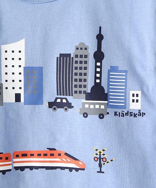 kladskap / クレードスコープ Tシャツ   抗菌防臭 街と電車プリントバック切り替えTシャツ   詳細7