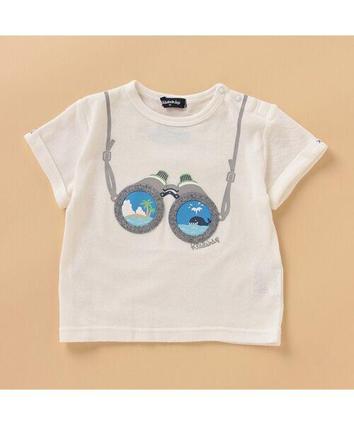 kladskap / クレードスコープ Tシャツ   双眼鏡半袖Tシャツ(オフホワイト)