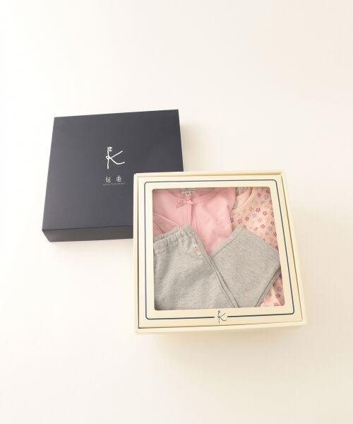 組曲 KIDS / クミキョク キッズ ギフトセット   【BABY】ギフトBOX(フラワープリント 3点セット)   詳細13