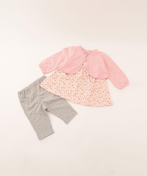 組曲 KIDS / クミキョク キッズ ギフトセット   【BABY】ギフトBOX(フラワープリント 3点セット)(ピンク系5)