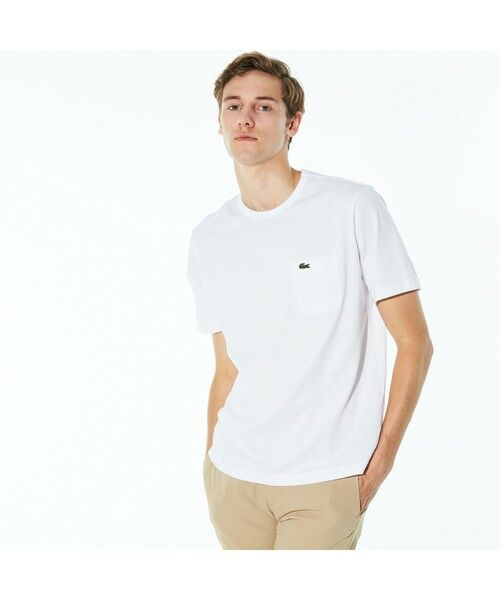 LACOSTE / ラコステ Tシャツ | ベーシッククルーネックポケットTシャツ (半袖)(ホワイト)