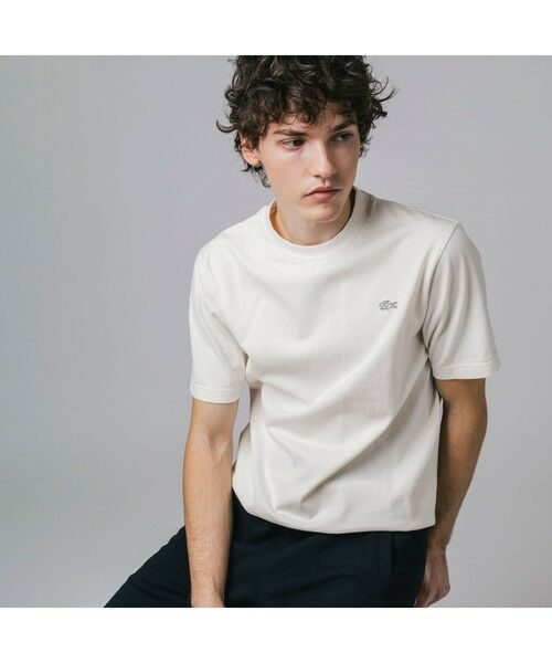 LACOSTE / ラコステ Tシャツ | ボディーサイズピグメントTシャツ(ホワイト)