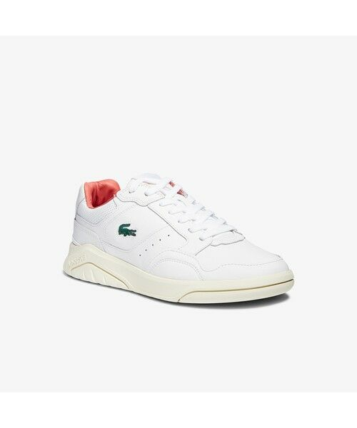LACOSTE/ラコステ メンズ GAME ADVANCE LUXE 0721 2 ホワイト×ピンク 40A(25.5cm)