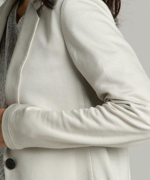 la.f...(大きいサイズ) / ラ・エフ(おおきいサイズ) アウター   【大きいサイズ】肌触りなめらかイージーテーラードジャケット   詳細7