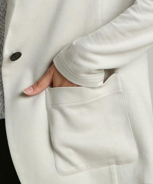 la.f...(大きいサイズ) / ラ・エフ(おおきいサイズ) アウター   【大きいサイズ】肌触りなめらかイージーテーラードジャケット   詳細8