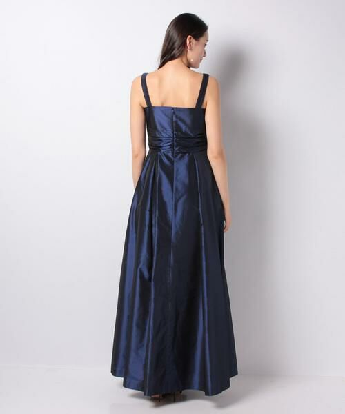 La Festa chic / ラフェスタシック ドレス | グリッター加工タフタ ロングドレス | 詳細3