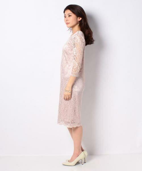 La Festa chic / ラフェスタシック ドレス | ラメ入りコードレース ドレス | 詳細2