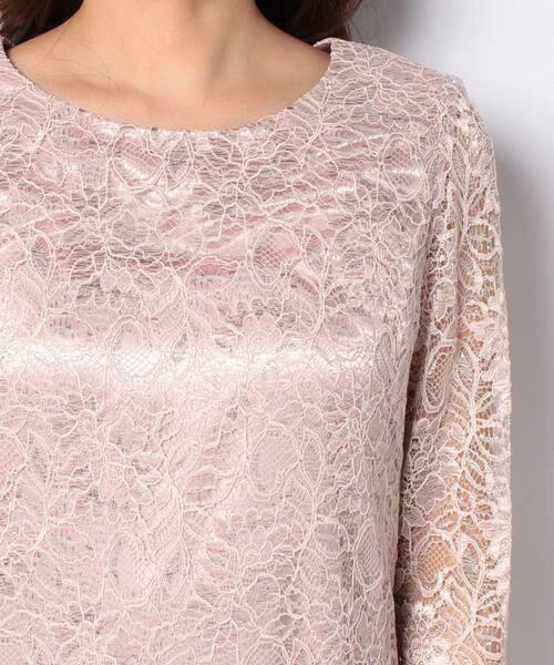 La Festa chic / ラフェスタシック ドレス | ラメ入りコードレース ドレス | 詳細4