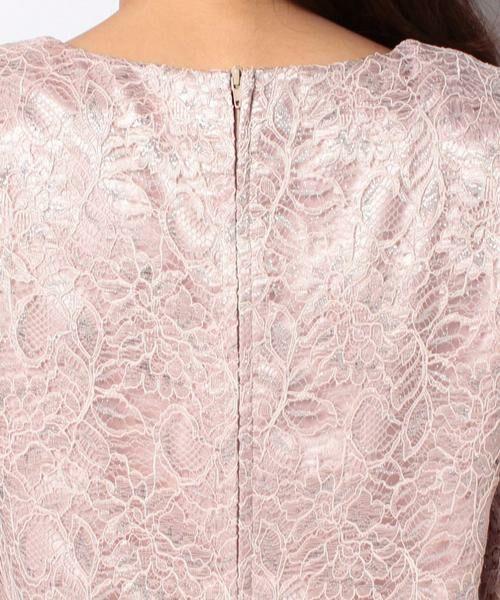 La Festa chic / ラフェスタシック ドレス | ラメ入りコードレース ドレス | 詳細5