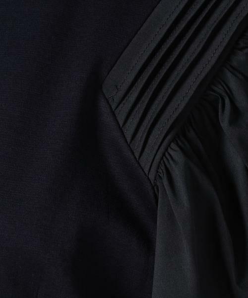 LANVIN en Bleu / ランバン オン ブルー ミニ丈・ひざ丈ワンピース | コンビスリーブカットソーワンピース | 詳細6