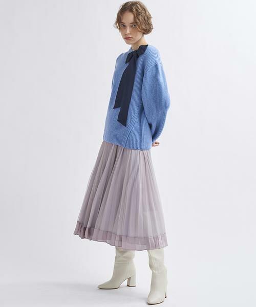 LANVIN en Bleu / ランバン オン ブルー ニット・セーター | グログランリボンニット | 詳細2