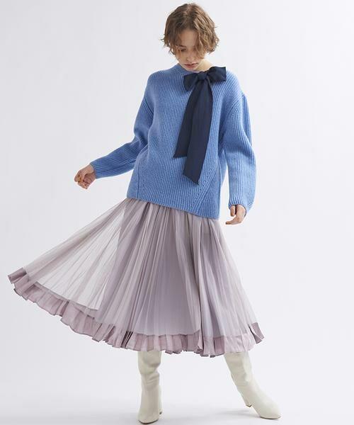 LANVIN en Bleu / ランバン オン ブルー ニット・セーター | グログランリボンニット | 詳細3