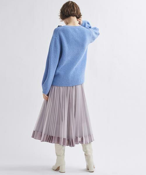 LANVIN en Bleu / ランバン オン ブルー ニット・セーター | グログランリボンニット | 詳細5