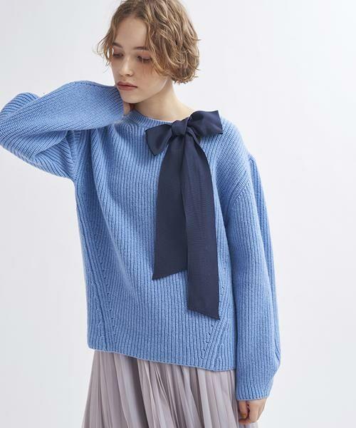 LANVIN en Bleu / ランバン オン ブルー ニット・セーター | グログランリボンニット | 詳細6