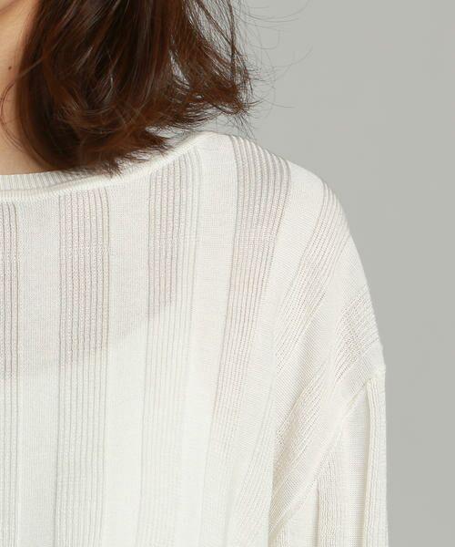 LAUTREAMONT / ロートレアモン ニット・セーター   凹凸のあるストライプ柄ニットプルオーバー   詳細3