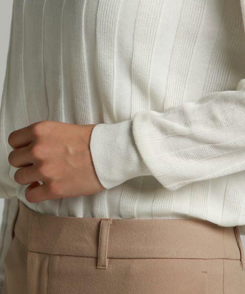LAUTREAMONT / ロートレアモン ニット・セーター   凹凸のあるストライプ柄ニットプルオーバー   詳細4