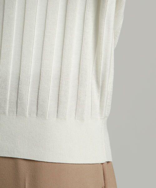 LAUTREAMONT / ロートレアモン ニット・セーター   凹凸のあるストライプ柄ニットプルオーバー   詳細5