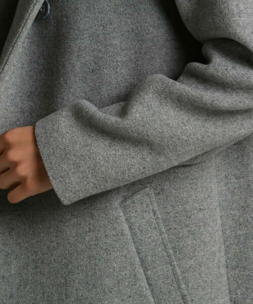 LAUTREAMONT / ロートレアモン アウター | 【SHIHOさん着用】膨らみのあるウール混軽量メルトンコート | 詳細10