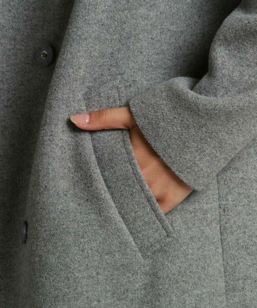LAUTREAMONT / ロートレアモン アウター | 【SHIHOさん着用】膨らみのあるウール混軽量メルトンコート | 詳細11