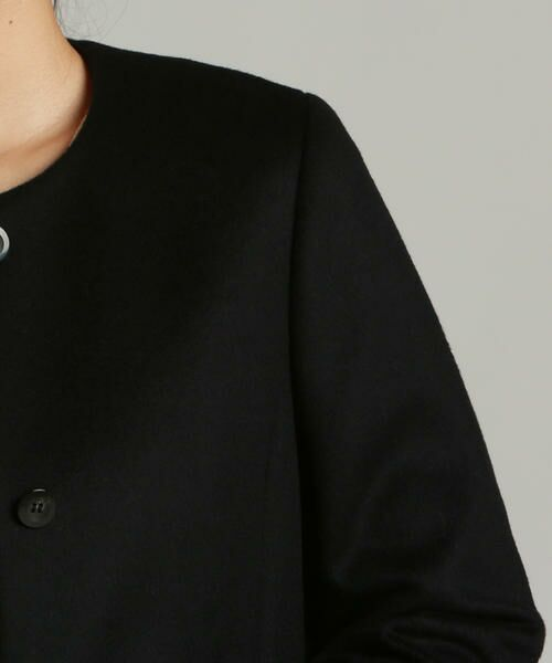 LAUTREAMONT / ロートレアモン アウター   スーパー120 LAUTREAMONT王道 ノーカラーソフトコクーンコート   詳細3