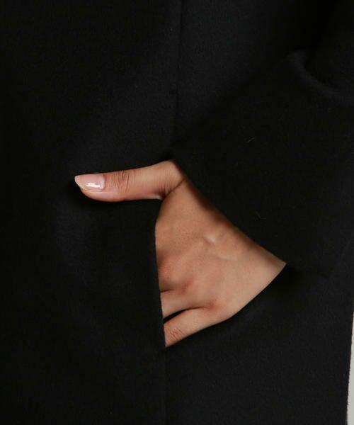 LAUTREAMONT / ロートレアモン アウター   スーパー120 LAUTREAMONT王道 ノーカラーソフトコクーンコート   詳細4
