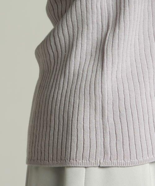 LAUTREAMONT / ロートレアモン ニット・セーター | 【WEB別注】洗える体のラインを拾いすぎない適度なゆとりがあるベーシックニット | 詳細11