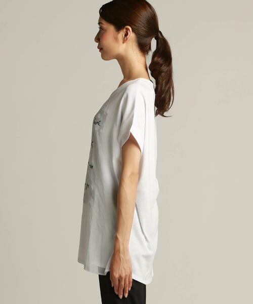 LAUTREAMONT / ロートレアモン Tシャツ | 【J Lounge別注】ボリューム感のあるきれい目Tシャツ  モノグラム | 詳細1