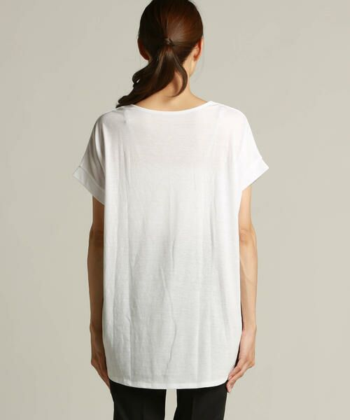 LAUTREAMONT / ロートレアモン Tシャツ | 【J Lounge別注】ボリューム感のあるきれい目Tシャツ  モノグラム | 詳細2