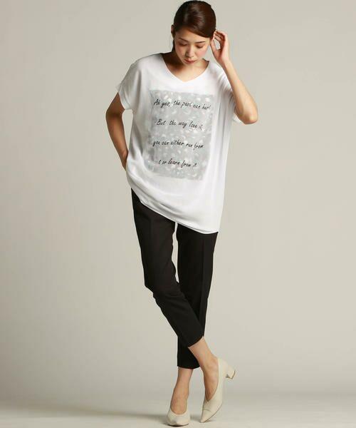 LAUTREAMONT / ロートレアモン Tシャツ | 【J Lounge別注】ボリューム感のあるきれい目Tシャツ  モノグラム | 詳細6