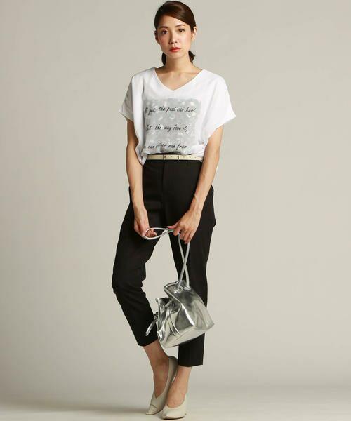 LAUTREAMONT / ロートレアモン Tシャツ | 【J Lounge別注】ボリューム感のあるきれい目Tシャツ  モノグラム | 詳細7