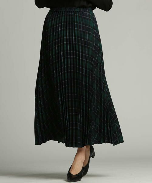 LAUTREAMONT / ロートレアモン スカート | ブリティッシュプリーツスカート(ダークネイビー)