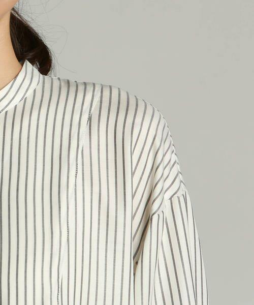 LAUTREAMONT / ロートレアモン シャツ・ブラウス | キュプラツイルバンドカラーシャツ | 詳細6