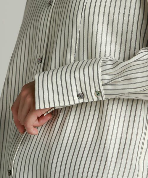 LAUTREAMONT / ロートレアモン シャツ・ブラウス | キュプラツイルバンドカラーシャツ | 詳細7