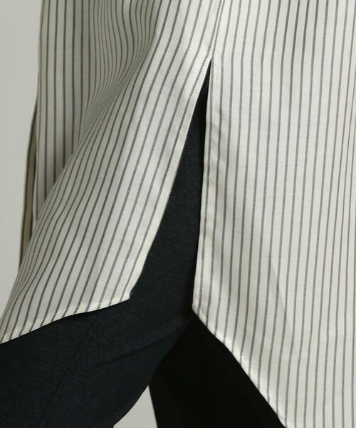 LAUTREAMONT / ロートレアモン シャツ・ブラウス | キュプラツイルバンドカラーシャツ | 詳細8