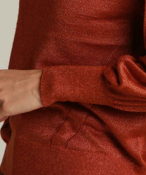 LAUTREAMONT / ロートレアモン ニット・セーター | 袖ボリュームのハイゲージニット | 詳細11