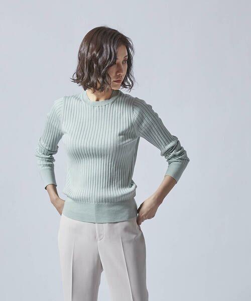 LAUTREAMONT / ロートレアモン ニット・セーター | 柔らかタッチのベーシックニット(グリーン)