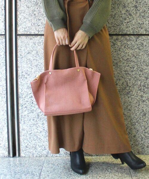 《タカシマヤファッションスクエア限定価格》フェイクスエード2WAYトート