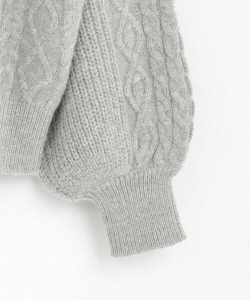 le.coeur blanc / ルクールブラン ニット・セーター | ケーブル袖ボリュームプルオーバー | 詳細3