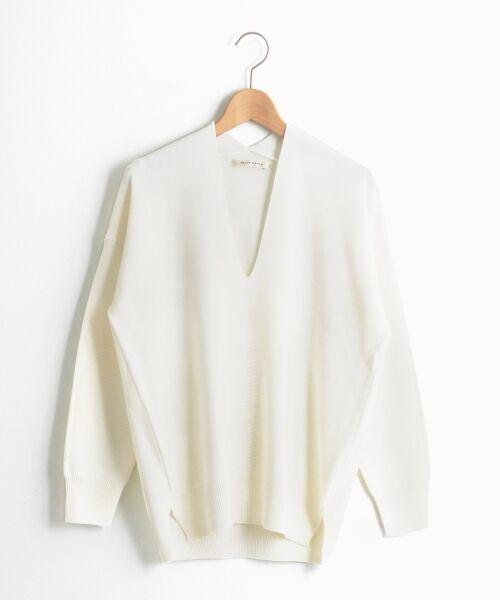 le.coeur blanc / ルクールブラン ニット・セーター | コクーンVネックガーターニットプルオーバー | 詳細9