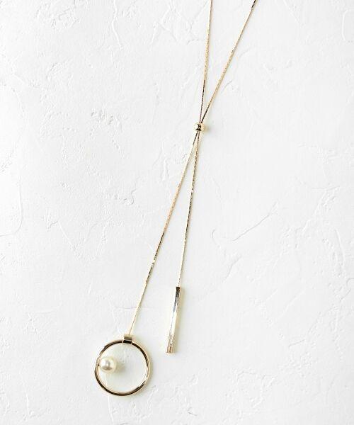 le.coeur blanc / ルクールブラン ネックレス・ペンダント・チョーカー   スライドボールネックレス(ゴールド)