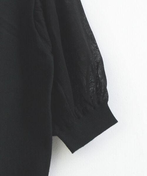 le.coeur blanc / ルクールブラン ニット・セーター | シアースリーブ6分袖ニット | 詳細3